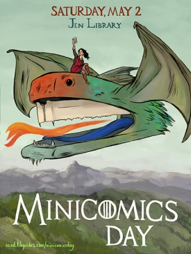 "Poster for ""Minicomics Day,"" held at the Jen Library, SCAD Savannah, May 2015"